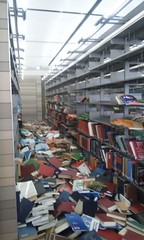 Japan Library Earthquake Damage