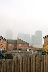 Canary Wharf from gardens (leighashleywood) Tags: london tower gardens architecture buildings landscape cityscape view hsbc financialsector viewsofcanarywharf