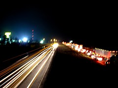 time in traffic (frankieleon) Tags: night lights interestingness interesting highway bestof darkness traffic cc creativecommons interstate popular frankieleon
