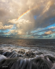 aloha ([Adam Baker]) Tags: ocean motion beach water clouds canon landscape hawaii rainbow pacific north shore rush tropical simple haleiwa 1740l adambaker 5dmkii