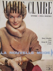 Marie Claire-September 1959 (Fashion Covers Magazines (First)) Tags: chanel 1959 marieclaire romyschneider vintagefashion vintagemagazine 1950s marieclairemagazine 1950sfashion