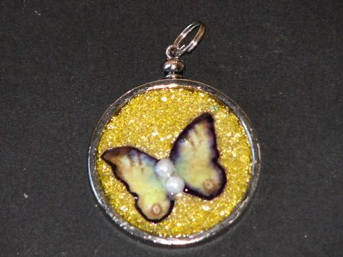 Glass Glitter Charm 012