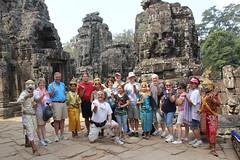 "Team at Bayon/Angkor Wat <a style=""margin-left:10px; font-size:0.8em;"" href=""http://www.flickr.com/photos/46768627@N07/5536167606/"" target=""_blank"">@flickr</a>"
