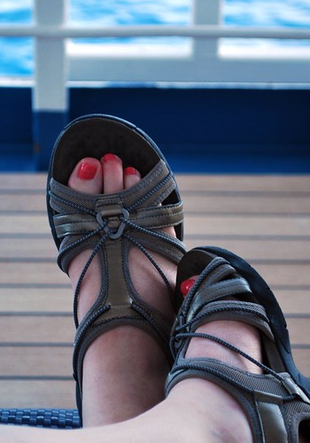 My Pedicured Toes on Deck 3 Starboard