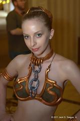 All-Con Day 1 - Slave Leia - @GinnyMcQueen (JackDTeague) Tags: dallas starwars leia ginny mcqueen slaveleia allcon ginnymcqueen
