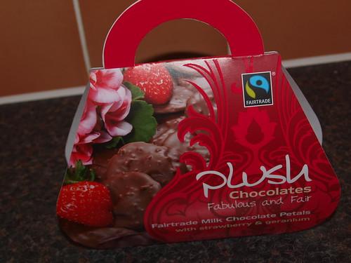 Plush Milk Chocolate Petals with Strawberry & Geranium