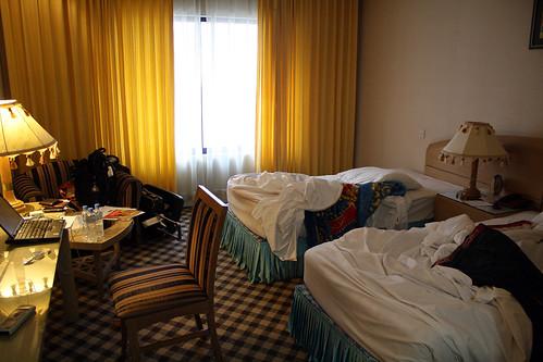 バングラデシュのワシントンホテルの部屋