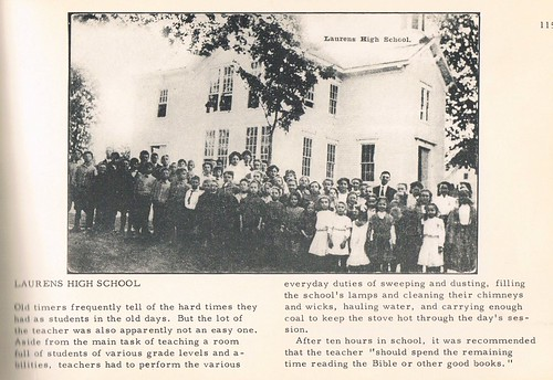 Project 365, Day 81: Laurens High School (old postcard)