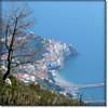 Amalfi (seen from 720m altitude) (jjamv) Tags: italy mountain nature alberi landscape mediterranean italia path natura unesco napoli positano sentiero ravello amalfi salerno bosco napels costieraamalfitana sentierodeglidei sentieri gulfofsalerno pathofthegods 100commentgroup mygearandmebronze jjamv juliusvloothuis