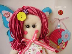 Menina do recado (mariafloratelier2) Tags: borboleta menina portarecados faltro