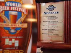 Specials & World Beer Festival Sign at the bar