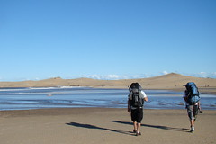 moon walkers (Alberto Schwonke) Tags: travel trekking river uruguay backpackers valizas