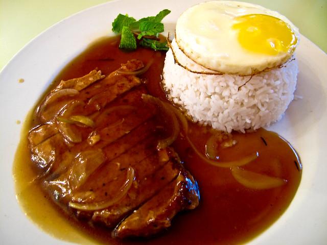 IMG_1579 Pork chop rice with sunny side up ,猪扒饭+ 煎蛋