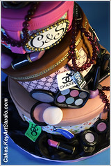 Sweet 16 for two fashion lovers (Cakes.KeyArtStudio.com) Tags: pink brown fashion cake mirror necklace designer montreal feathers ivory puff makeup tags mascara lipstick blush nailpolish cosmetics eyeshadow lipgloss brands sweet16 louisvuitton dolcegabbana edibleimage isomalt compactpowder designercake larissavolnitskaia keyartstudiocakes