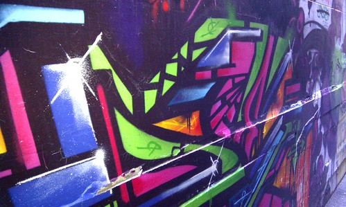 Street art graffiti around Melbourne's alleyways