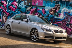BMW_E60_paps_graffiti_HDR1 (nils_vb88) Tags: car wall graffiti photoshoot bmw rims 5series e60 19inch worldcars style135mreplica tam3077