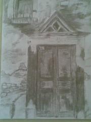 παλια πορτα (run2you) Tags: ζωγραφικη πορτα μολυβι παλια σχεδιο σκιτσα καρβουνο