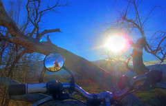 Sky Watcher (splinx1) Tags: sky sun sol bicycle trek golden handheld sunburst hdr pon contrejour pagan solinvictus smarksthespot canonpowershotsd780is