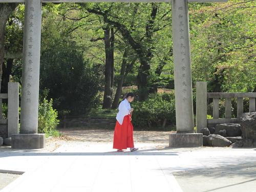 Temple dans le parc de Sumida, Tokyo, Japon