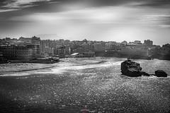 Sparkling  Biarritz ( / Cyril) Tags: landes biarritz seashore rivage ocean aquitaine rocks rochers beach plage noiretblanc blackandwhite paysbasque grandeplage