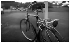 Vintage Bike (daveelmore) Tags: vintagebike bike bicycle pedalpower stitchedpanorama panorama blackwhite bw lumixleicadgsummilux25mm114 3speed