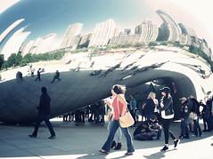 Chicago, USA (yenhuan.li) Tags: gr ricohgr usa chicago millenniumpark cloudgate thebean
