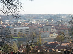 Snapshot view of Prague, Czech Republic (amazing_tina) Tags: trees cold sunshine skyline fairytale scenery prague spires branches churches medieval czechrepublic easterneurope cityview beautifulday pragueview hanschristian
