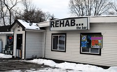 Think its time to go to Rehab? (Cragin Spring) Tags: winter white snow beer bar rural illinois pub bordertown january tavern cocktails antioch rehab stateline beersign antiochillinois lakecountyillinois route173 rehabbar rehabthebar