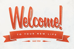 welcome (christopher Paul) Tags: red illustration typography design graphicdesign christopherpaul
