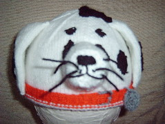 Dalmation (Impression-Knits) Tags: dog dogs strange hat fun weird knitting funny hats dalmation novelty novel unusual knitted