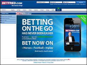 BetFred Sportsbook Lobby