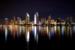 San Diego Skyline (Jessica Christian) Tags: city skyline nikon cityscape sandiego citylights citynights d40 sandiegocityscape