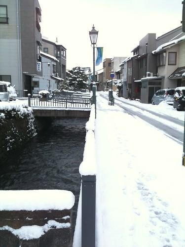 金沢の用水路