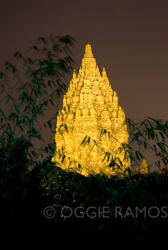 Indonesia - Prambanan Lighted Bambooscape