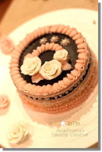 天使媽媽蛋糕皂教學Jolin1