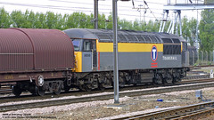 25/04/2002 - Doncaster. (53A Models) Tags: train diesel railway doncaster southyorkshire freighttrain ews class56 transrail dutchlivery 56049
