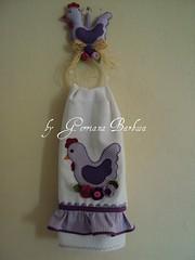 (MARIA BONITA by Gerriana Barbosa) Tags: galinha cozinha tecido mbile panodeprato