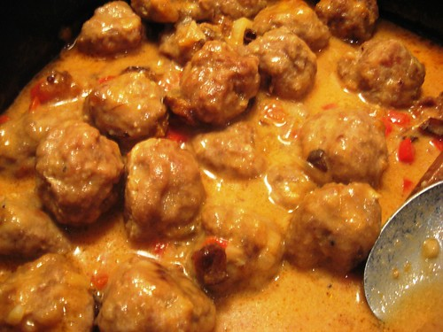 Swedish Meatballs with Spicy Plum Sauce