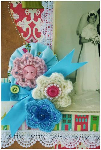 Wedding day studio photo closeup