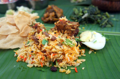 Chicken Biryani and BLR vegetables