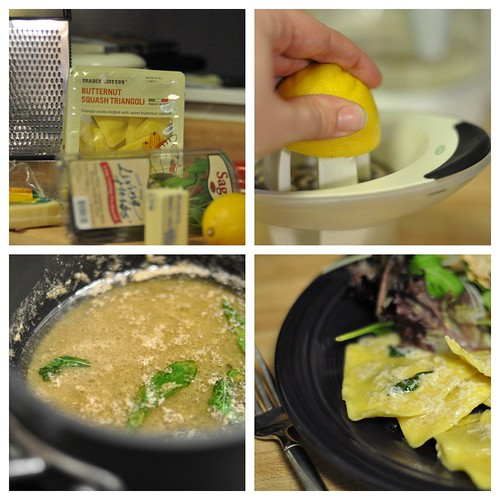 Sage Butter Sauce and Butternut Squash Ravioli