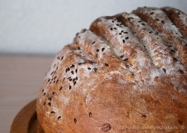 Spelt rye bread with seeds