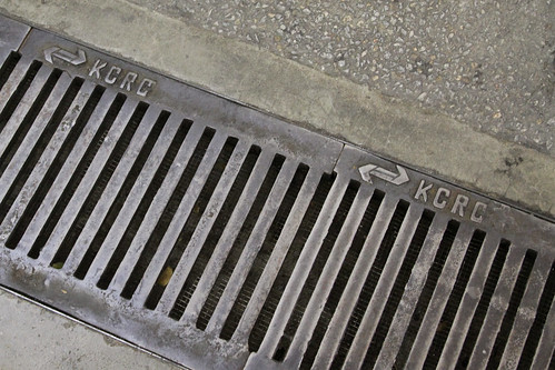 KCRC logo on drain gratings