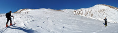 Scialpinismo Laga - Monte di Mezzo dalla diga sul Rio Fucino
