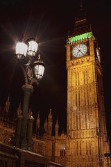 The Palace of Westminster Clock Tower (TheFella) Tags: city uk light england urban slr london tower clock lamp westminster yellow night digital canon landscape photography eos golden photo high streetlight europe dynamic unitedkingdom streetlamp landmarks housesofparliament parliament bigben landmark clocktower unescoworldheritagesite unesco nighttime lensflare processing 1855mm dslr range conor hdr highdynamicrange starburst urbanlandscape palaceofwestminster macneill postprocessing 500d londonlandmarks thefella conormacneill fellafoto dwcffnight