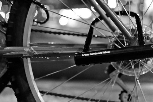Black&White Bike Bokeh