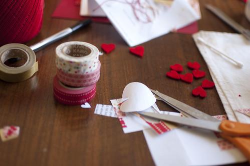tape, hearts