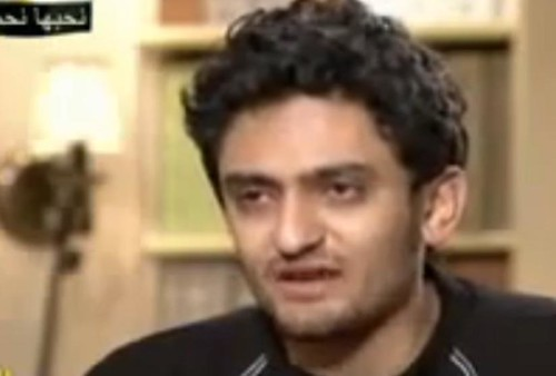 Screen shot of Wael Ghonim on television in Egypt after his release, From ImagesAttr