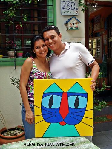 curso de pintura em tela - Dayson e Naiara