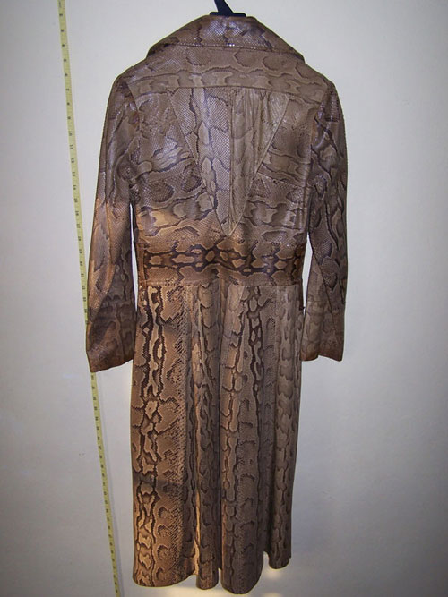 Ossie Clark python coat: back